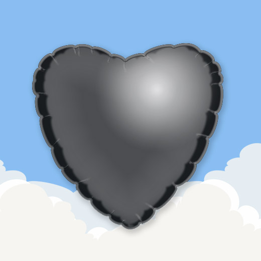 Black 18″ Heart Foil Balloon 1