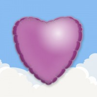 "Lilac 18"" Heart Printed Foil Balloons"