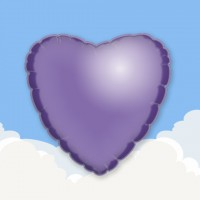 "Purple 18"" Heart Printed Foil Balloons"