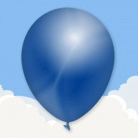Metallic Blue Printed latex balloons