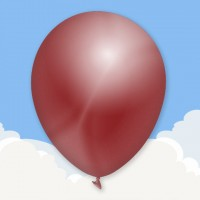 "Metallic Burgundy 12"" printed latex balloons"