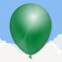 Metallic Dark Green Printed latex balloons