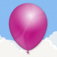 Metallic Fuchsia Printed latex balloons