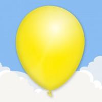 Metallic Lemon Yellow Printed latex balloons