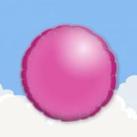"""Fuchsia 18"""" Round Printed Foil Balloons"""