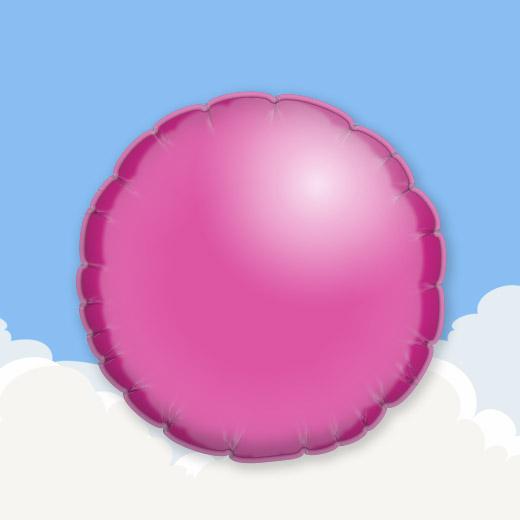 Fuchsia 18″ Round Foil Balloon 1