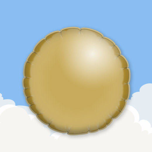 Gold 18″ Round Foil Balloon 1