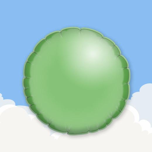 Green 18″ Round Foil Balloon 1