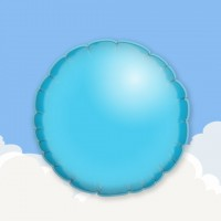 "Light Blue 18"" Round Printed Foil Balloons"