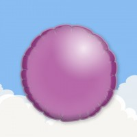 "Lilac 18"" Round Printed Foil Balloons"