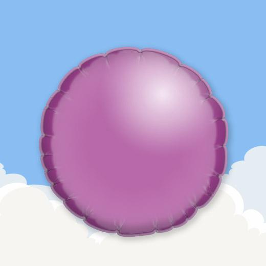 Lilac 18″ Round Foil Balloon 1