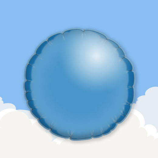 Mid Blue 18″ Round Foil Balloon 1