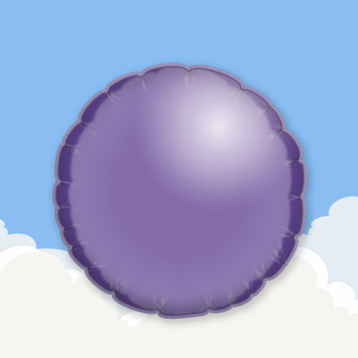 Purple 18″ Round Foil Balloon 1