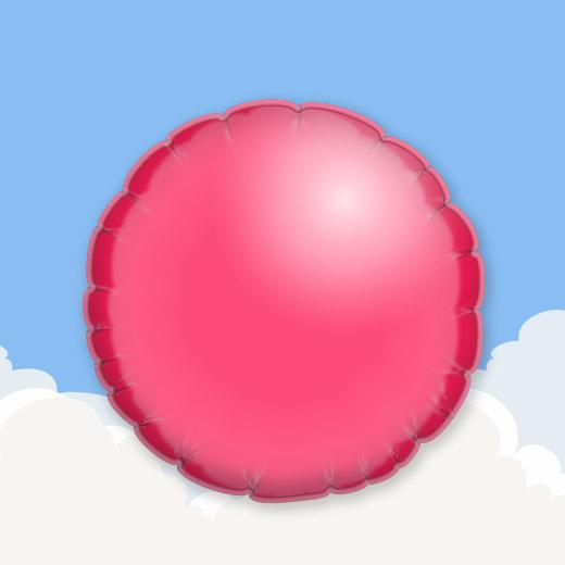 Red 18″ Round Foil Balloon 1