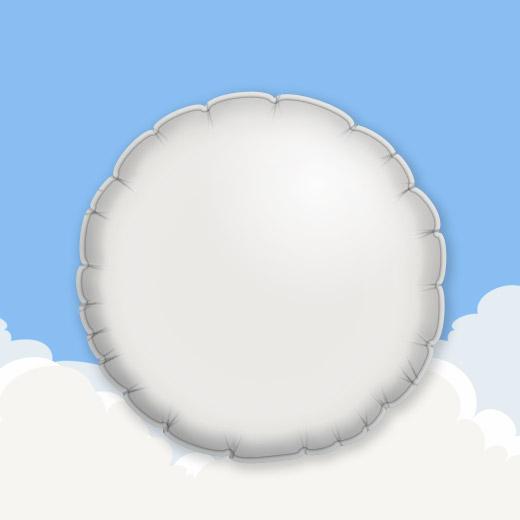 White 18″ Round Foil Balloon 1