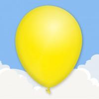 Standard Lemon Yellow printed latex balloons