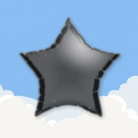 "Black 18"" Star Printed Foil Balloons"