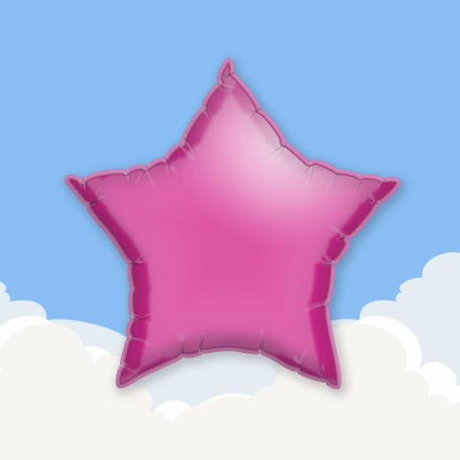 Fuchsia 18″ Star Foil Balloon 1