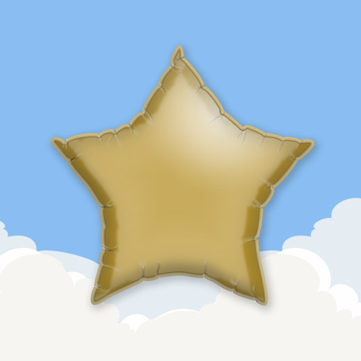 Gold 18″ Star Foil Balloon 1