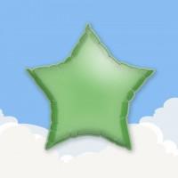 "Green 18"" Star Printed Foil Balloons"