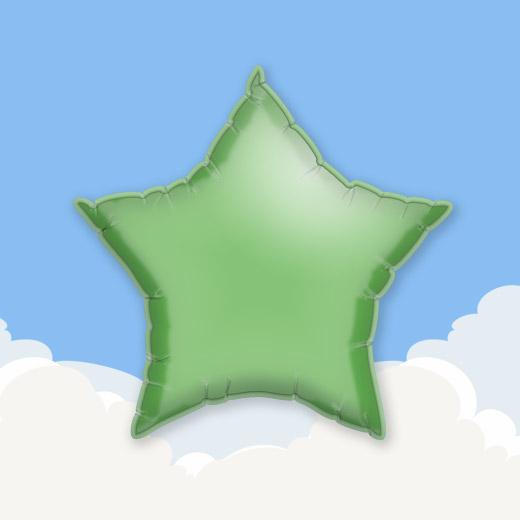 Green 18″ Star Foil Balloon 1