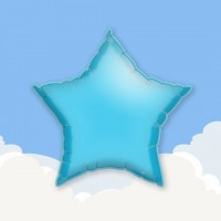"Light Blue 18"" Star Printed Foil Balloons"