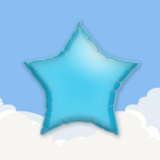 Light Blue 18″ Star Foil Balloon 1