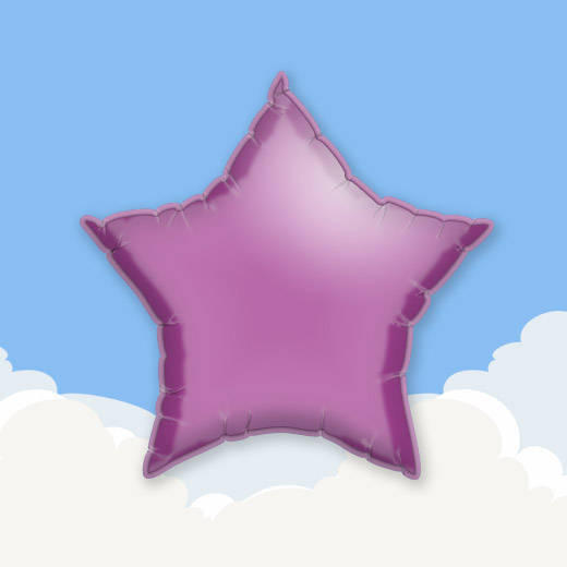 Lilac 18″ Star Foil Balloon 1