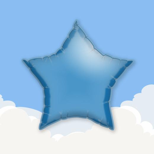 Mid Blue 18″ Star Foil Balloon 1