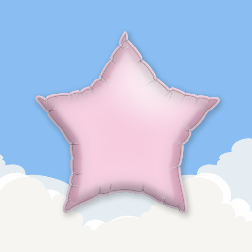 Pink 18″ Star Foil Balloon 1