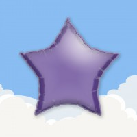 "Purple 18"" Star Printed Foil Balloons"