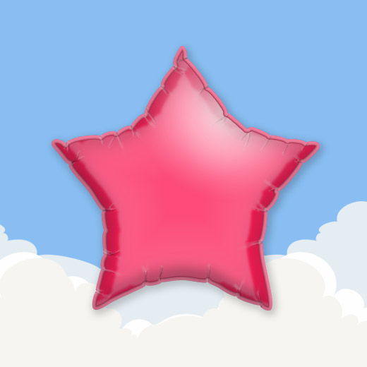 Red 18″ Star Foil Balloon 1