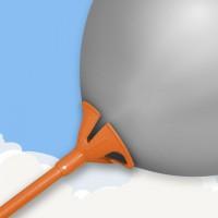Sticks for personalised foil balloons orange